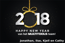 Gelukkig 2018 van het MultiTools.be Team!